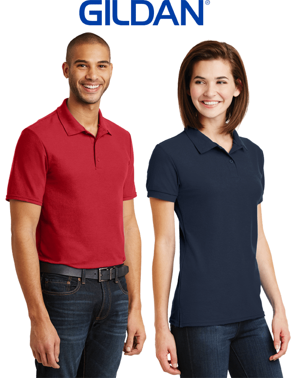 custom printed polo shirts